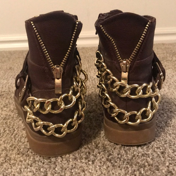 JustFab Shoes - High Top Chain Sneakers